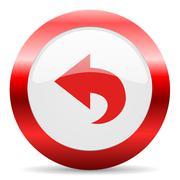 back glossy web icon - stock illustration