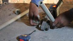 Installation of plumbing Stock Footage