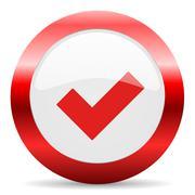 Accept glossy web icon Stock Illustration