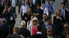 Rush Hour On London Bridge. - stock footage