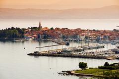 Town izola, slovenia Stock Photos