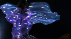 Beautiful belly dance movement Stock Footage
