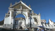 Stock Video Footage of Bolivia Copacabana shrine