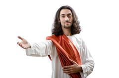 Jesus Christ personifacation isolated on the white Stock Photos