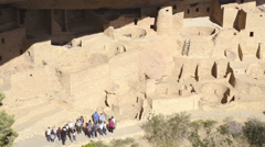 Park ranger at Mesa Verde National Park-HD_P-1792 Stock Footage