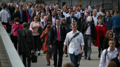 Rush Hour In Busy City Stock Footage