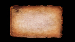 Ancient Scroll - stock footage