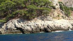 Mediterranean sea landscape view of coast Stock Footage