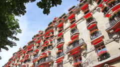 Luxury hotel apartments in Paris Stock Footage
