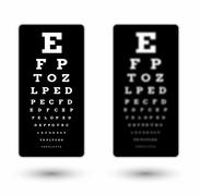 sharp and unsharp black snellen chart - stock illustration