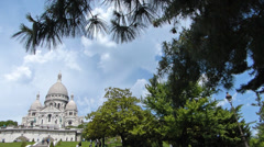 Sacre Coeure Cathedral In Paris Stock Footage