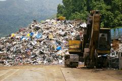 Recycling factory Stock Photos
