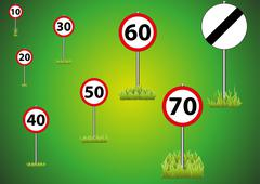 Speed Limit Selection Green - stock illustration