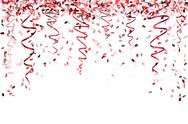 Stock Illustration of falling red confetti