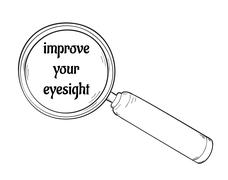 Magnifying glass and improve your eyesight Stock Illustration