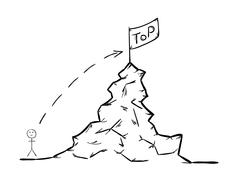 Rise to the top Stock Illustration