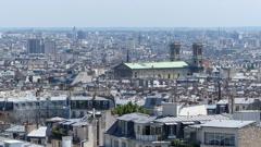 Panoramic view of Paris Stock Footage