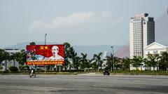 The traffic is pretty light in Da Nang, Vietnam Stock Footage