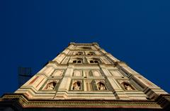 The Catheral the Florence and Giotto's bell tower Stock Photos