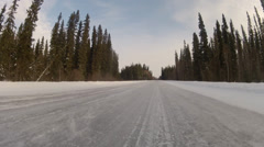 Highway Alaska Snow Trail - stock footage