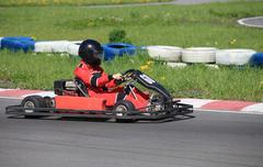 go-carting  race - stock photo
