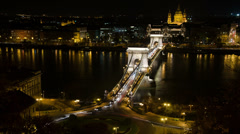 Chainbridge from the top with roundabout - stock footage