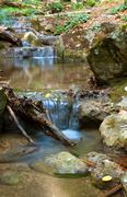 mountain brook - stock photo