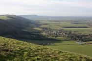 Stock Photo of view from south downs near brighton. england