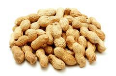 peanut shells - stock photo