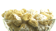 4K Bowl Of Cereals Rotating Stock Footage