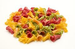 Mixed weird shaped pasta Stock Photos