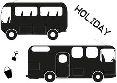 Holiday Vehicles Stock Illustration