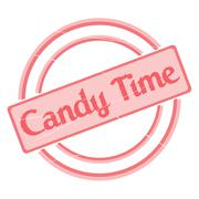 Candy Time Stamp Stock Illustration