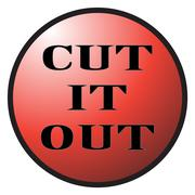 Cut It Out Button Stock Illustration