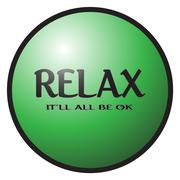 Relax Button Stock Illustration