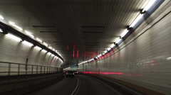 POV Driving in Holland Tunnel,  New York City, New York, USA Stock Footage