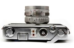 Old rangefinder camera Stock Photos