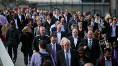 Rush Hour On London Bridge Stock Footage