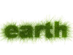Stock Photo of Eco-Style Grass Letters