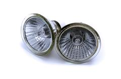 halogen reflector lamp - stock photo