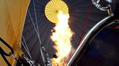 Stock Video Footage of Hot Air Ballon Burner Flame