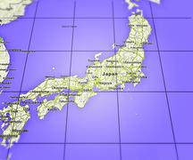 japan on map - stock illustration