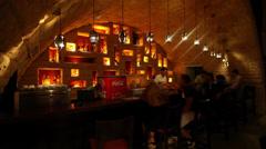 Nightlife at the bar in Marsa Matruh, Egypt Stock Footage