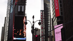WS LA PAN Electronic billboards on Time Square, New York City, New York State, Stock Footage