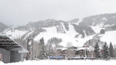 Ski Hill Snow Streets Stock Footage
