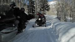 Snowmobile Ride Aspen Stock Footage