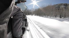 Snow Aspen Colorado Snowmobiles Stock Footage