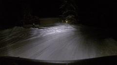 Aspen Snow Road - stock footage