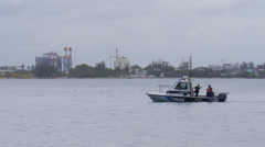 Police patrol boat Stock Footage