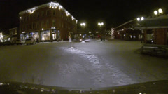 Aspen Night Streets Colorado Stock Footage
